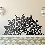 wZUN Media Mandala Pegatina de Pared Yoga Dormitorio Sala de Estar decoración calcomanía Vinilo Mandala calcomanía decoración del hogar 85X171cm