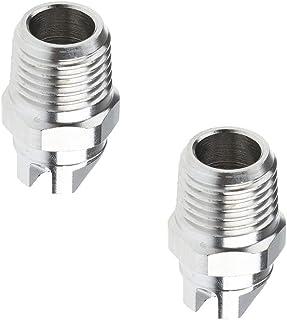 Homyl 2 peças bocal de aço inoxidável para limpeza de superfície macho de alta pressão com bico de aço inoxidável - tipo d...