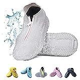 Noc Trading Cubrezapatos reutilizables de silicona impermeables antideslizantes y resistentes al desgaste para la lluvia y la nieve, para hombres y mujeres