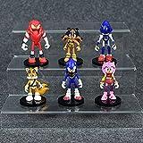 Figura muñeca sónica 6 unids/set Niman Sonic Boy Game Anime Sonic the Hedgehog X6 bolsa a granel decoración de muñecas juguetes modelo hechos a mano