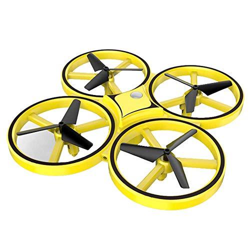 QHWJ Control Remoto Quadcopter, Mini Drone Helicopter Gravity Sensing Watch Control De Gestos Aviones, Luces LED Juguetes para Niños Cumpleaños