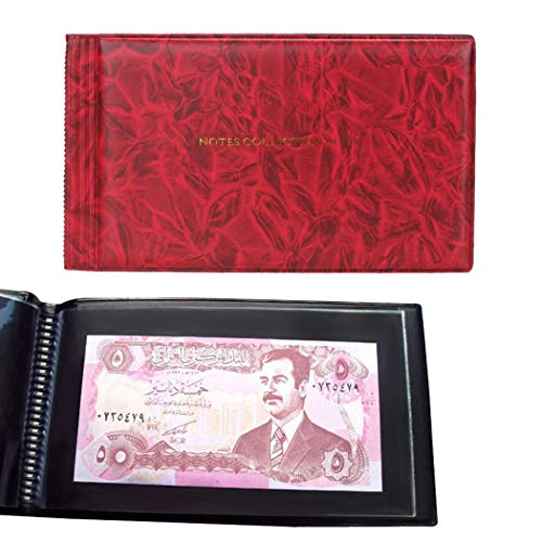 JUSTDOLIFE Sovjet-album beschermend geldverzamelalbum geldvak Eén maat rood