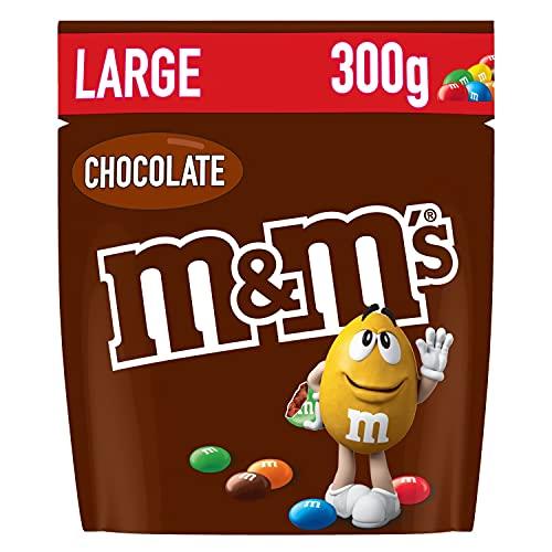 M&Ms CHOCO - Billes au chocolat au lait enrobé de sucre et dragéifié - Pochon de 300g