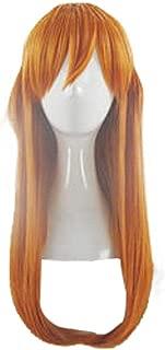 Xingwang Queen Anime Long Straight Orange Cosplay Wig Women Girls' Party Wigs