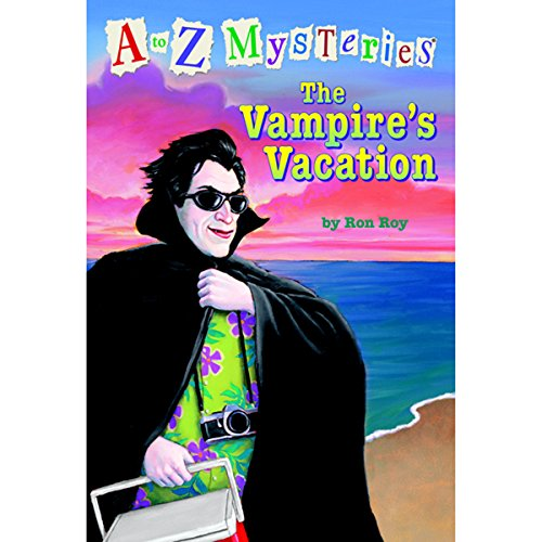 A to Z Mysteries: The Vampire's Vacation audiobook cover art