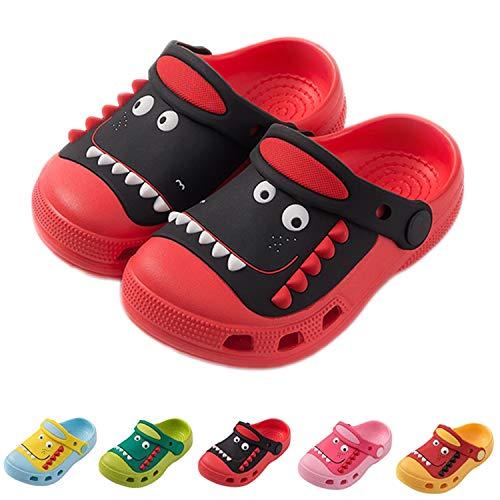 Mules Fille Sabots Garçon Sandales de Plage Enfants bébé Pantoufles Légère Chaussures pour Piscine de Jardin Été, Rouge, 30/31 EU, Taille de l'étiquette 190
