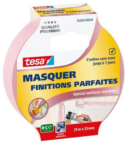 tesa 56260–00004–00Perfect Finish Malerband für empfindliche Oberflächen 25m x 25mm