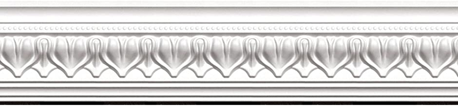 Focal Point 23125 Acropolis Crown Moulding 4 1/8-Inch by 8 Foot, Primed White, 8-Pack