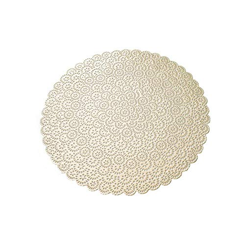 RMI Table Mat Set Place Bowl Mat Washable Dining Wedding Party Packs Flower Design Coaster Mat Hollow Round Pad Home Decor,G276688
