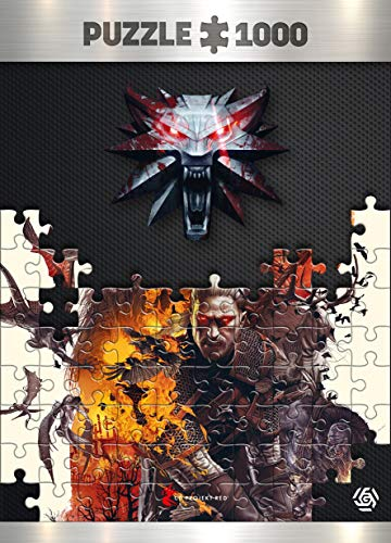 The Witcher 3: Wild Hunt Monsters - Puzzle 1000 Piezas 68cm x 48cm | Incluye póster y Bolsa | Videojuego | Puzzle para Adultos y Adolescentes