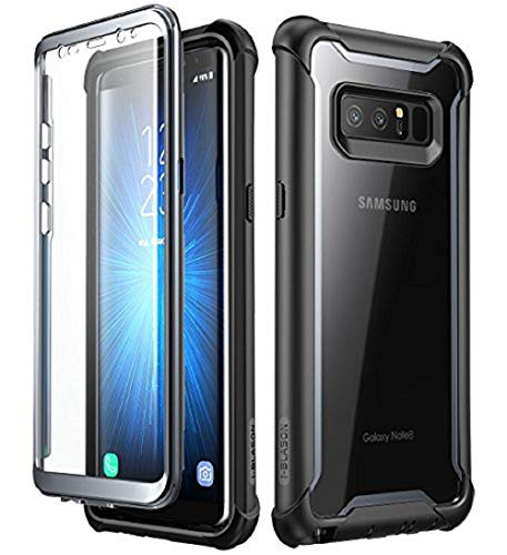 i-Blason Samsung Galaxy Note 8 Case, [Ares Series] Full-Body Rugged Clear Bumper Case Cover with Built-in Screen Protector for Samsung Galaxy Note 8 2017 Release (Black)