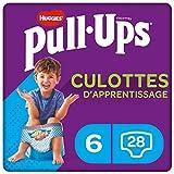 Huggies Pull-Ups, Culottes d'apprentissage pour garçon, Taille 2-4 ans (15-23 kg), 28 culottes, Avec indicateur d'humidité et technologie absorbante innovante
