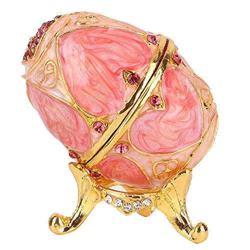 卵ジュエリーボックス、装身具ボックス、ジュエリーボックス、ジュエリーボックス用ジュエリーオーガナイザー卵リング家の装飾