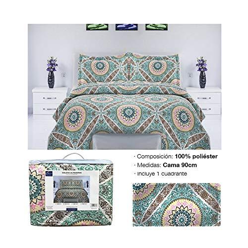 Comercial Candela Colcha Primavera y Verano Mandala Verde para Cama de (90)