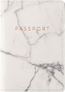 Travel Passport Cover Case with Storage Pocket, Marble, 6.4X4