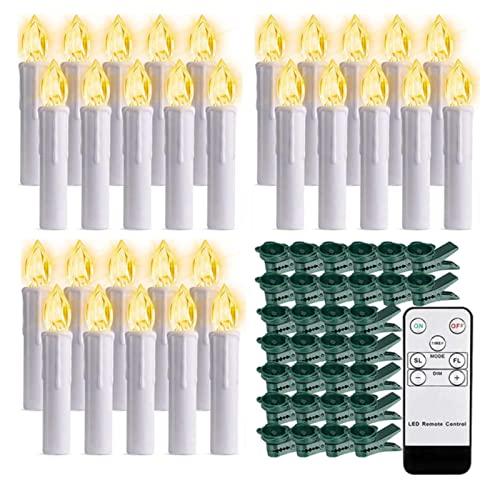 Vela de clip de árbol de Navidad sin llama intermitente con mando a distancia y ventosa LED velas para decoración de jardín de cumpleaños de Halloween