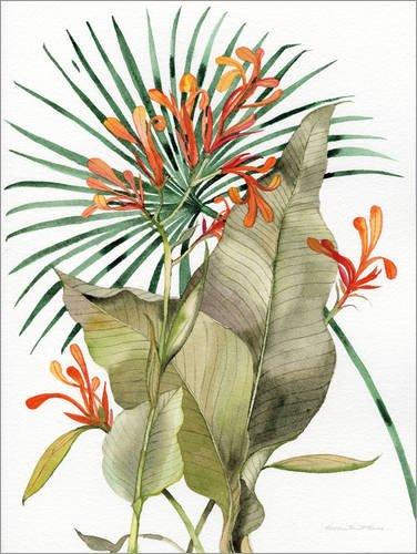 Posterlounge Alubild 30 x 40 cm: Flammen-Lilien von Kathleen Parr McKenna/Wild Apple Graphics