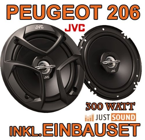 Lautsprecher - JVC CS-J620-16cm Koaxe für Peugeot 206, 206cc, 206sw, 206+ - JUST SOUND best choice for caraudio