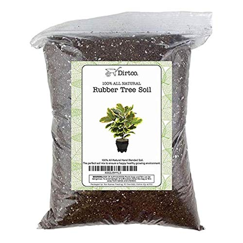 """Hand Blend Rubber Plant Soil, Soil Mix for Rubber Burgundy Ficus Plant, Repot from 4"""" Pot to Grower Pot or Larger, 2qt Rubber Tree Soil"""