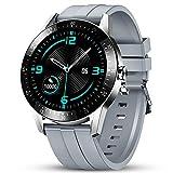 GOKOO Reloj Inteligente Hombres Smartwatch Monitor de Actividad con 24 Modos Deportivos Pulsómetro Calorías Monitor de Sueño Podómetro IP67 Impermeable Reloj Compatible con Android iOS (Plata)