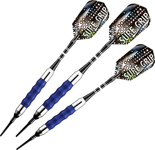 Viper Sure Grip Soft Tip Darts, Blue, 18...