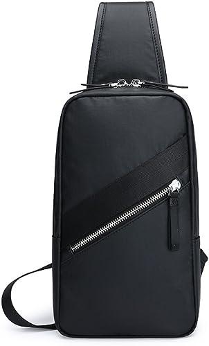 Brusttasche Herren Rucksack Freizeit Sport Oxford Spinning Messenger Schultertasche Multi-Purpose Flut Herren Tasche (Farbe   schwarz)