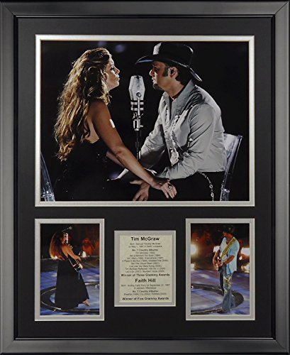 Legends Never Die Faith Hill and Tim McGraw Framed Photo Collage, 16' x 20'