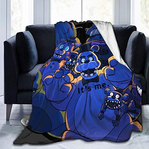 Five Nights at Freddys - Manta reversible para todas las estaciones, manta de microfibra suave y cálida para niños y niñas y adultos para sofá de cama y sofá de 127 x 152 cm