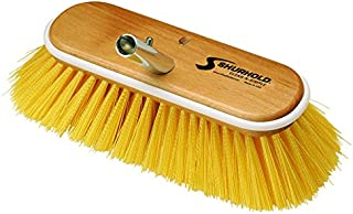 Shurhold 985 10 Deck Brush with Medium Yellow Polystyrene Bristles