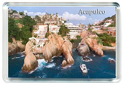 DreamGirl I274 Acapulco Jumbo Imán para Nevera Mexico Travel Fridge Magnet
