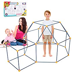 Construction Forts Building Kit: With 32 Connector Spheres, 58 Building Sticks. Allow you to build forts of all shapes and sizes! Simply connect the spheres with a stick to create places where imaginations flourish. Spark Creativity: STEM (science, t...