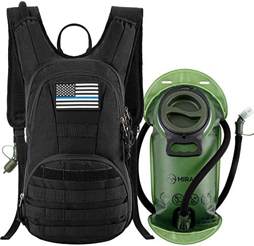 MIRACOL Tactical Molle Hydration Backpack Pack with 2L Water Bladder Military Water Backpack product image