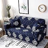 WXQY Funda de sofá elástica con Estampado de patrón geométrico para Sala de Estar, Funda de sofá Modular en Forma de L Funda de sofá A6 4 plazas