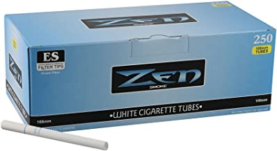 1 Box - 250pc Zen 100mm Light Cigarette Tubes White