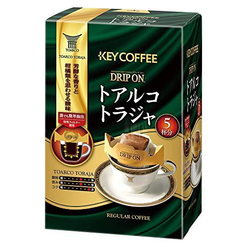 キーコーヒー ドリップオン トアルコトラジャ (8g×5P)×5個