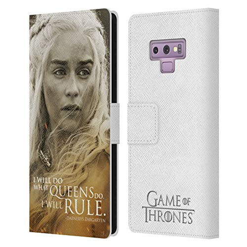Head Case Designs Officially Licensed HBO Game of Thrones Daenerys Targaryen Character Portraits Leather Book Wallet Case Cover Compatible with Samsung Galaxy Note9 / Note 9