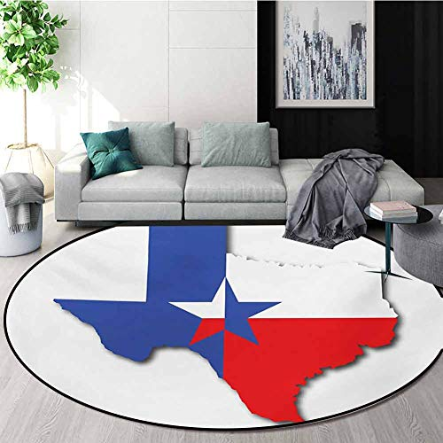 For Sale! Texas Star Modern Machine Round Bath Mat,Outline Of The Texas Map American Southwest Austi...