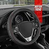 Motor Trend GripDrive Faux Leather Steering Wheel...
