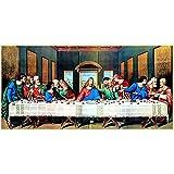 Bordado de diamantes, La Última Cena de Jesús, imagen de diamantes de imitación completa, pintura de...