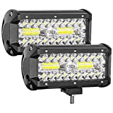 Zmoon Led Light Bar,240W 24000lm Led Fog Light 7 Inch Led Driving Lights Off Road Lights with Spot&Flood Combo Beam,Waterproof Die-Casting Aluminum Alloy Shell for Jeep Boat UTV Truck ATV (2 Pack)
