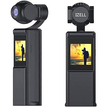 4K 小型 ビデオカメラ ジンバルカメラ あらゆる瞬間を映像に残す!手の平サイズの 3軸ジンバル IZELL 3軸ジンバルカメラ youtube