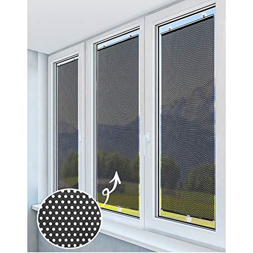 GDMING Balkon Markise Flexibler Sonnenschutz Verdunkelungsvorhang Vorübergehende UV-Schutz Wasserdicht Einstellbar Tragbar Für Die Tür Autofahrt Frei Perforiert, 4 Größen