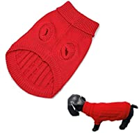 Very soft, smooth, comfortable and warm. This sweater is ideal for autumn and winter to wear. Material: woolen yarn. Color:Red With the cool design and fashionable style, it is a great gift for your little puppy.