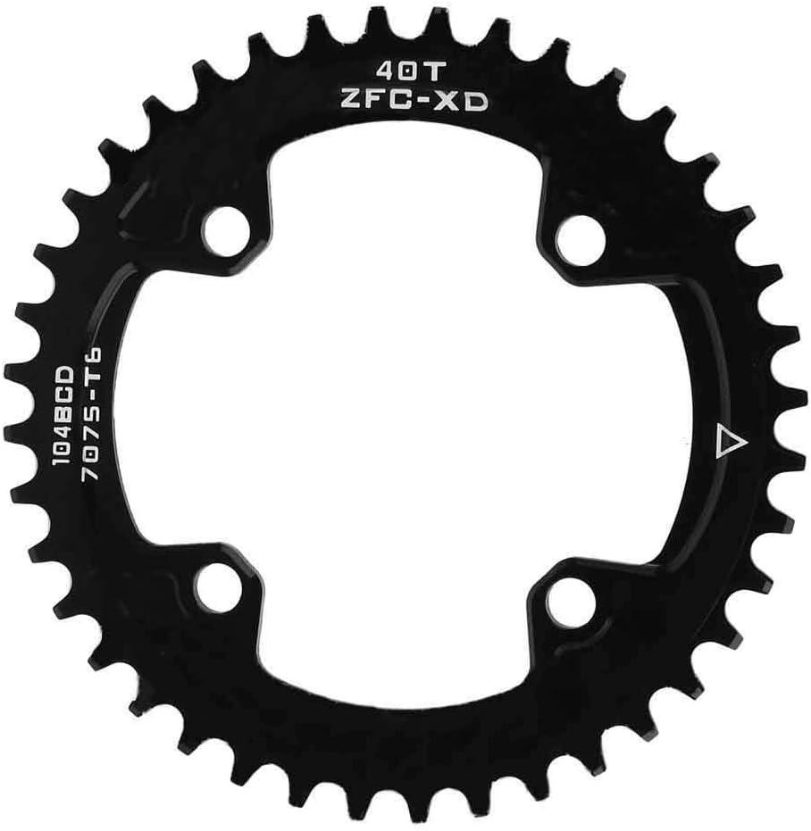 Wincal Chainring-BCD 104MM 40T 42T SHIMANOs Guarnitura AM//XC Bicicletta Lega di Alluminio di Alta qualit/à Pignone Stretto Anello Catena Stretto Piastra Ingranaggi 40T圆盘(104BCD)