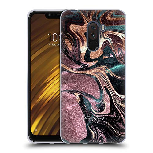 Head Case Designs Offizielle Nature Magick Bronze Gold Marmor Metallisch Soft Gel Huelle kompatibel mit Xiaomi Pocophone F1 / Poco F1