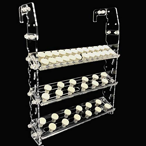Reefing Art Vertical Frag Rack Holds up to 84 Coral frag Plugs Hang on Back (Large)