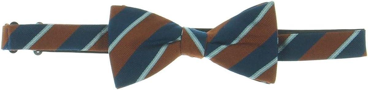 Countess Mara Mens Striped Self-Tied Bow Tie