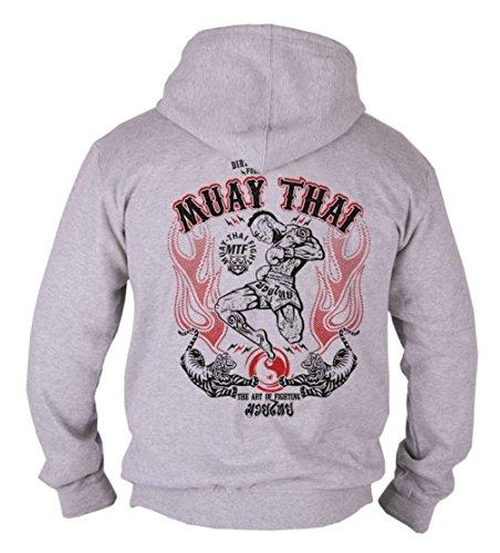 MMA Muay Thai Herren Men's Kapuzen Hooded Sweatshirt Hoodie B9 (L)