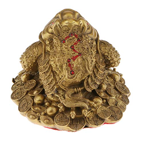 F Fityle Kupfer Feng Shui Geldfrosch Geldkröte Glücksbringer Ornament Geschenk - S
