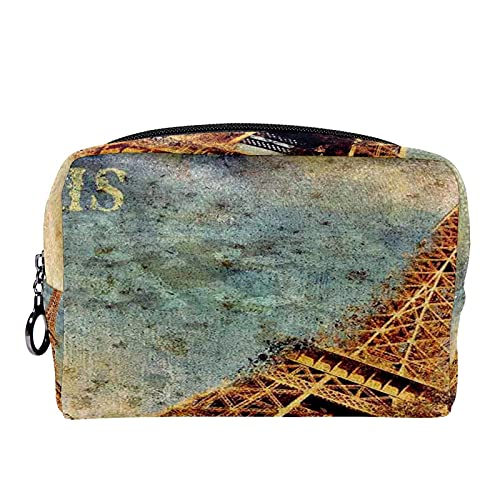 Bolsa Maquillaje Almacenamiento organización Artículos tocador cosméticos Estuche portátil Torre Eiffel Diseño de Estilo clásico Trabajo de Arte rústico para Viajes Aire Libre